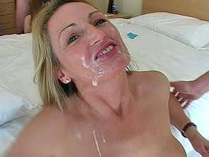 Two girls suck and get huge facials